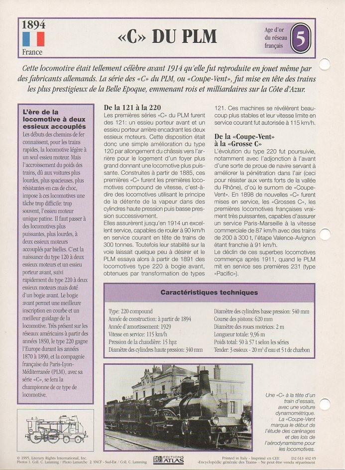 [Fiches Atlas] Trains de légende, éditions Atlas (1e partie) T07910