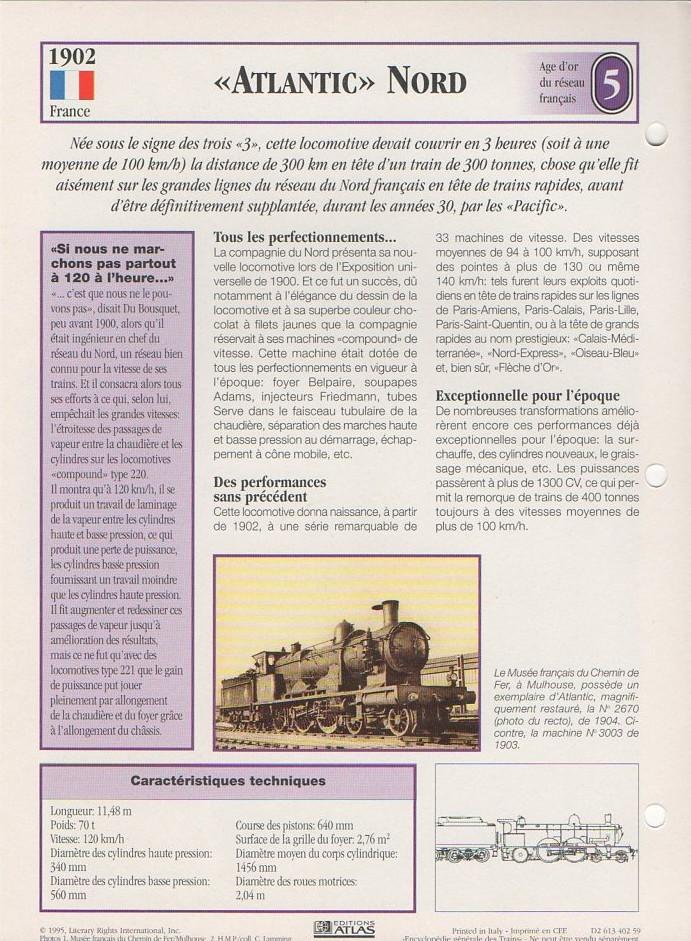 [Fiches Atlas] Trains de légende, éditions Atlas (1e partie) T08110