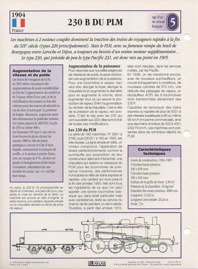 [Fiches Atlas] Trains de légende, éditions Atlas (1e partie) T08310