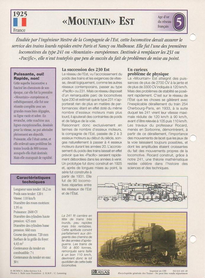 [Fiches Atlas] Trains de légende, éditions Atlas (1e partie) T09510