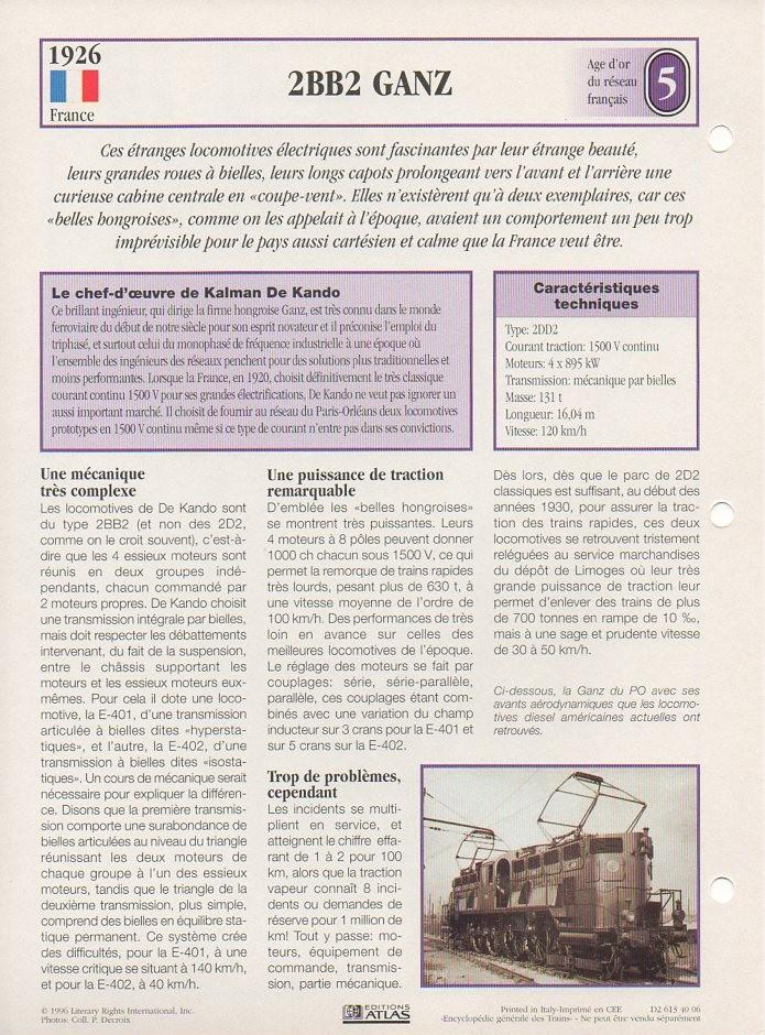 [Fiches Atlas] Trains de légende, éditions Atlas (1e partie) T09910