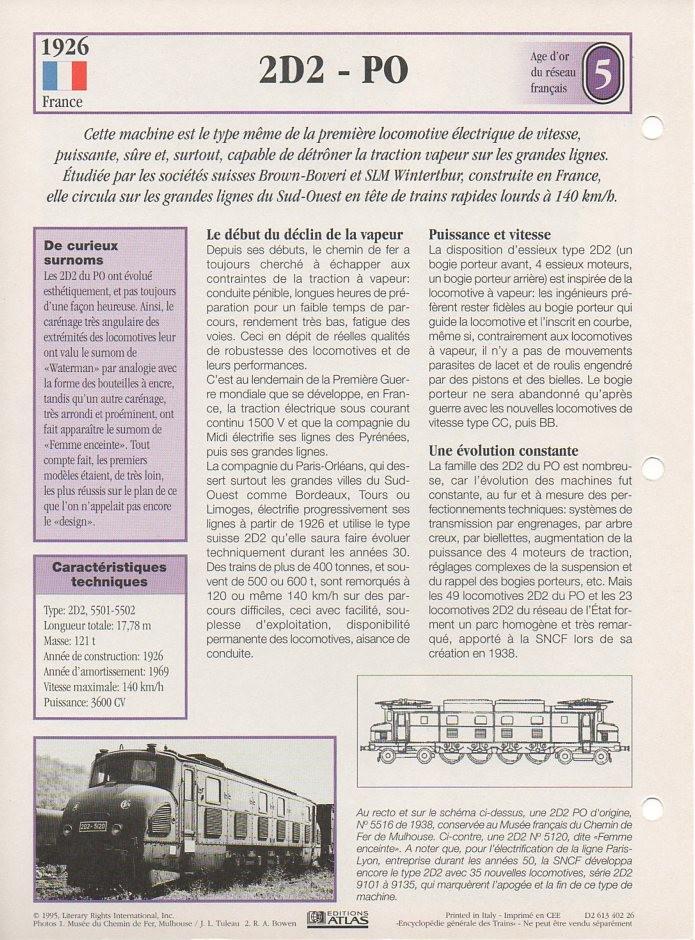 [Fiches Atlas] Trains de légende, éditions Atlas (1e partie) T10110