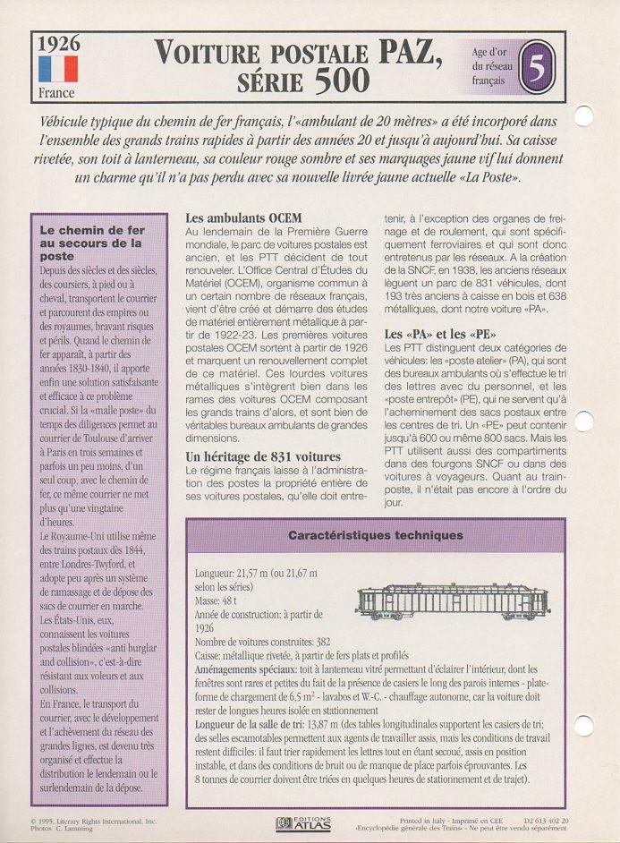 [Fiches Atlas] Trains de légende, éditions Atlas (1e partie) T10310