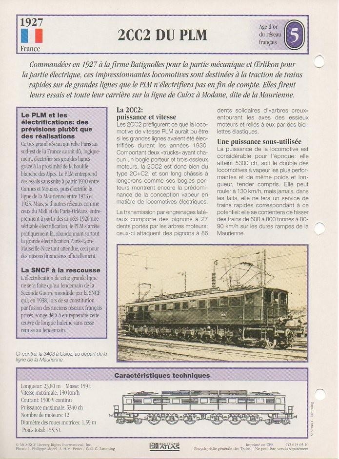 [Fiches Atlas] Trains de légende, éditions Atlas (1e partie) T10510