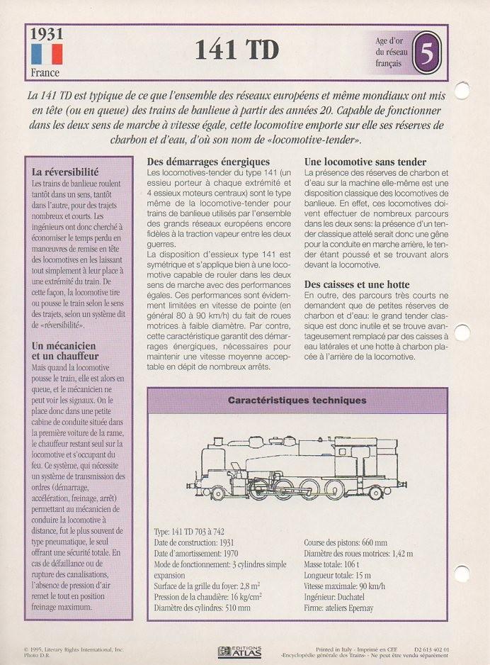 [Fiches Atlas] Trains de légende, éditions Atlas (1e partie) T10910
