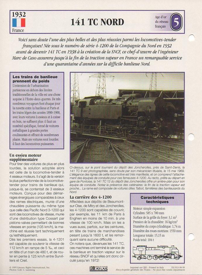 [Fiches Atlas] Trains de légende, éditions Atlas (1e partie) T11110