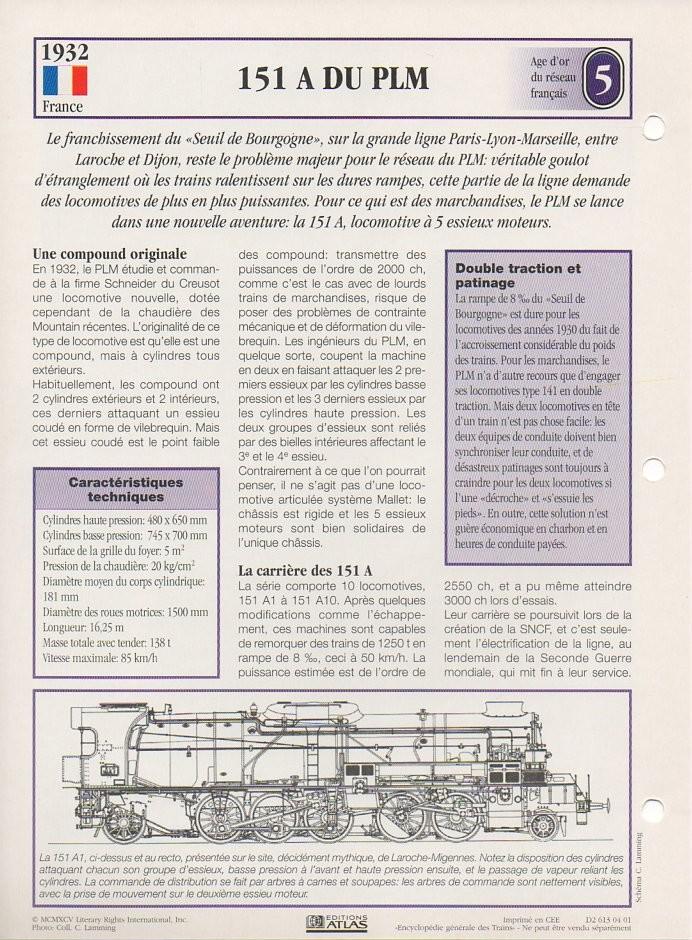 [Fiches Atlas] Trains de légende, éditions Atlas (1e partie) T11310