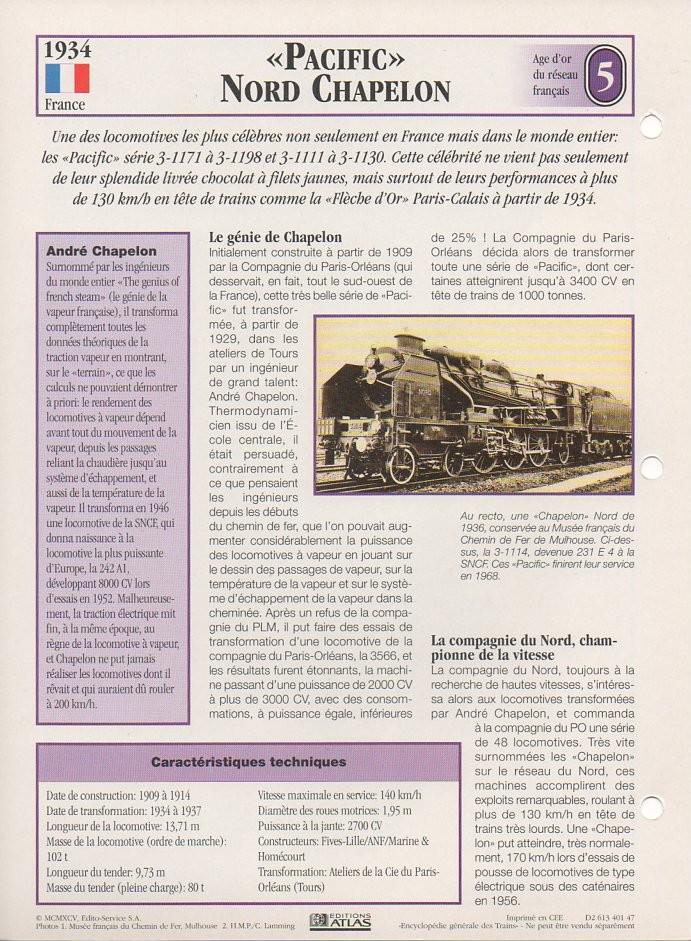 [Fiches Atlas] Trains de légende, éditions Atlas (1e partie) T11910