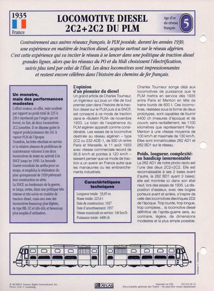 [Fiches Atlas] Trains de légende, éditions Atlas (1e partie) T12310