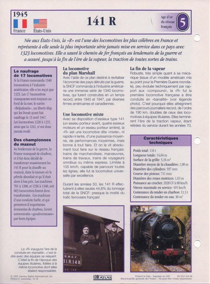 [Fiches Atlas] Trains de légende, éditions Atlas (1e partie) T12910