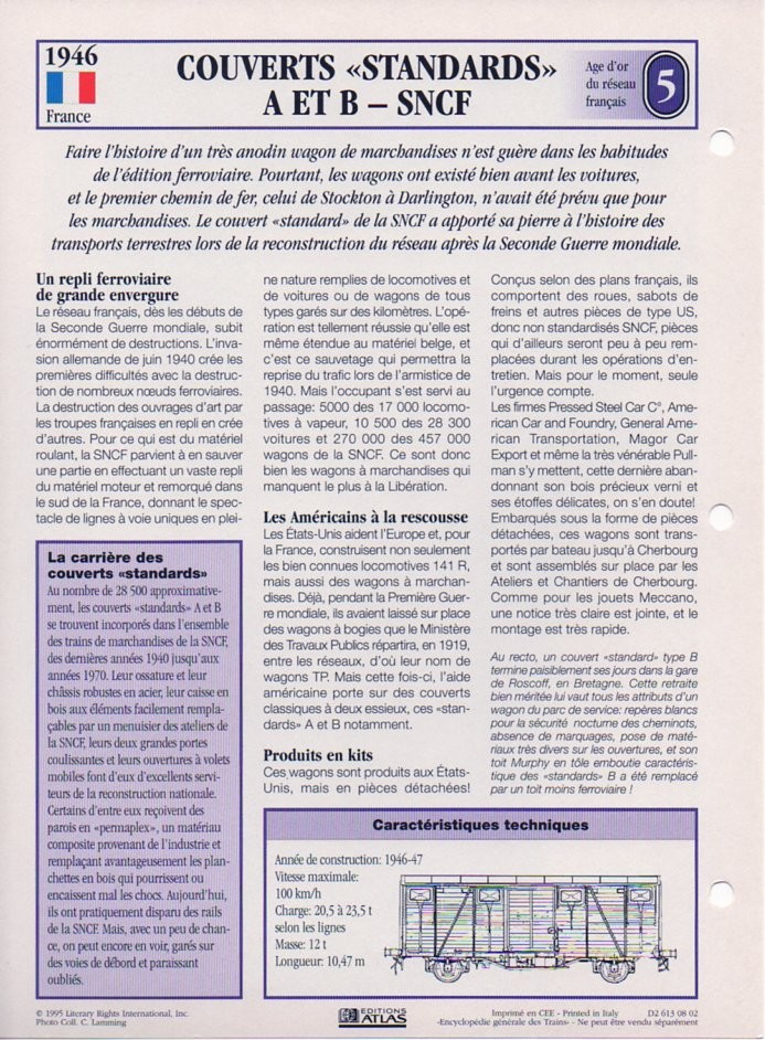 [Fiches Atlas] Trains de légende, éditions Atlas (1e partie) T13110