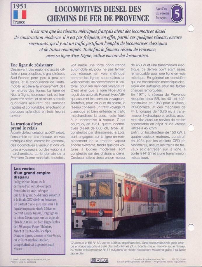 [Fiches Atlas] Trains de légende, éditions Atlas (2e partie) T13710