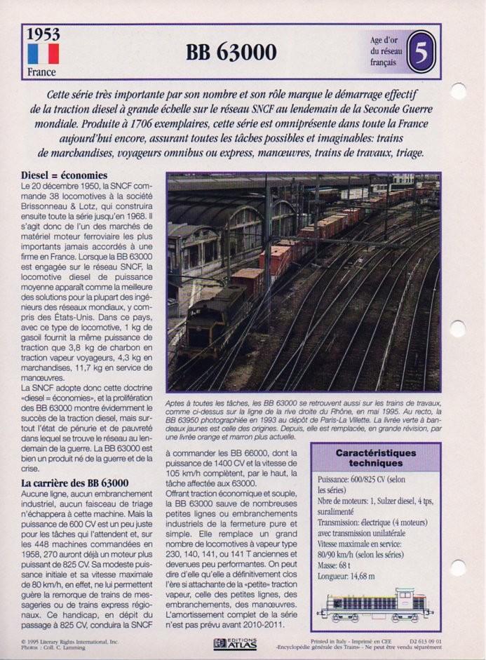 [Fiches Atlas] Trains de légende, éditions Atlas (2e partie) T13910