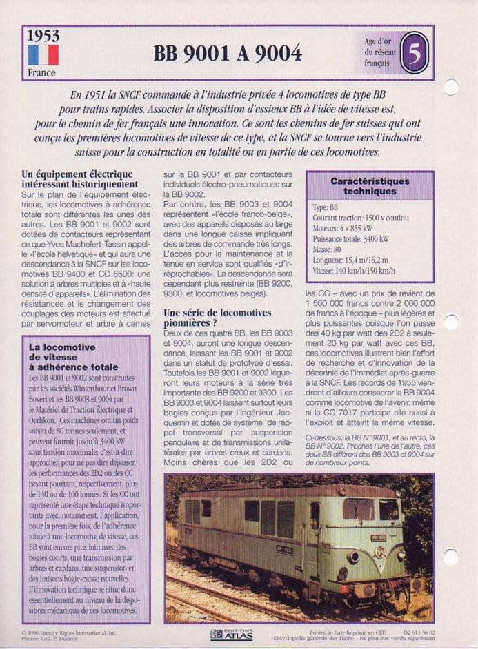 [Fiches Atlas] Trains de légende, éditions Atlas (2e partie) T14110