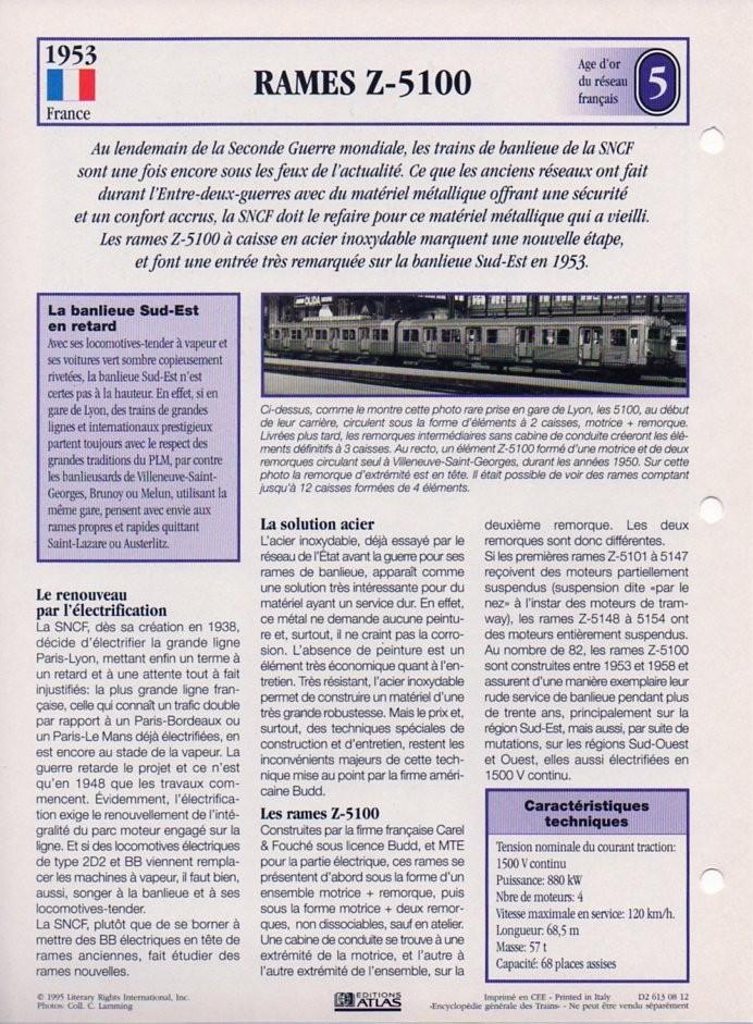 [Fiches Atlas] Trains de légende, éditions Atlas (2e partie) T14310