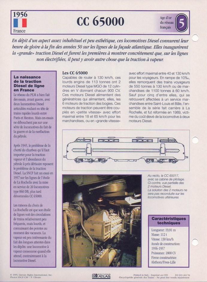 [Fiches Atlas] Trains de légende, éditions Atlas (2e partie) T14510