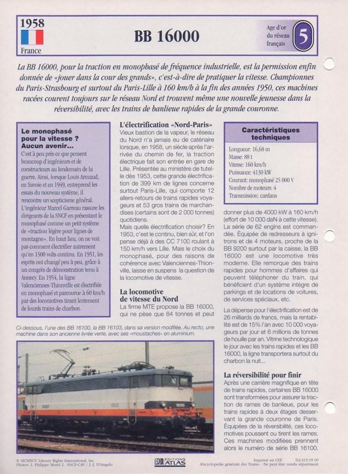 [Fiches Atlas] Trains de légende, éditions Atlas (2e partie) T15110