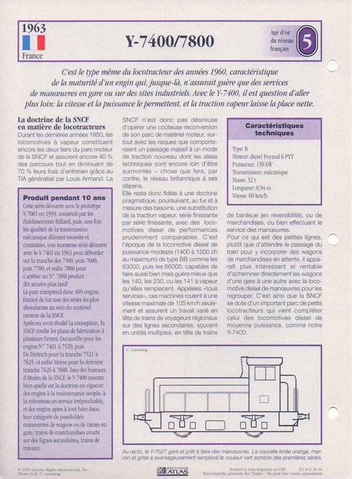 [Fiches Atlas] Trains de légende, éditions Atlas (2e partie) T15510