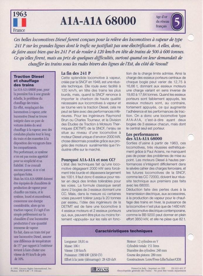 [Fiches Atlas] Trains de légende, éditions Atlas (2e partie) T15710
