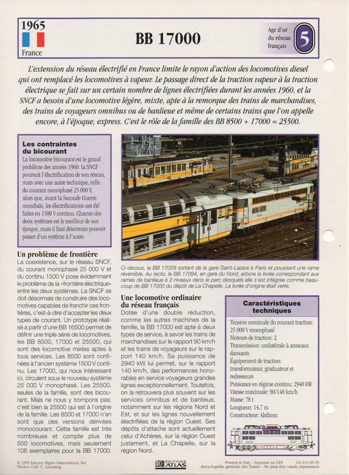[Fiches Atlas] Trains de légende, éditions Atlas (2e partie) T15910