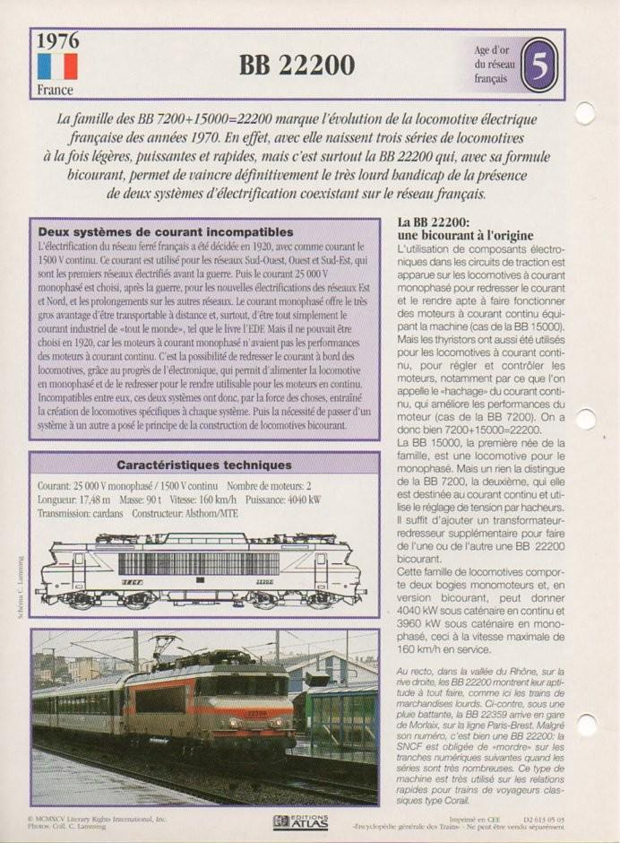 [Fiches Atlas] Trains de légende, éditions Atlas (2e partie) T16310