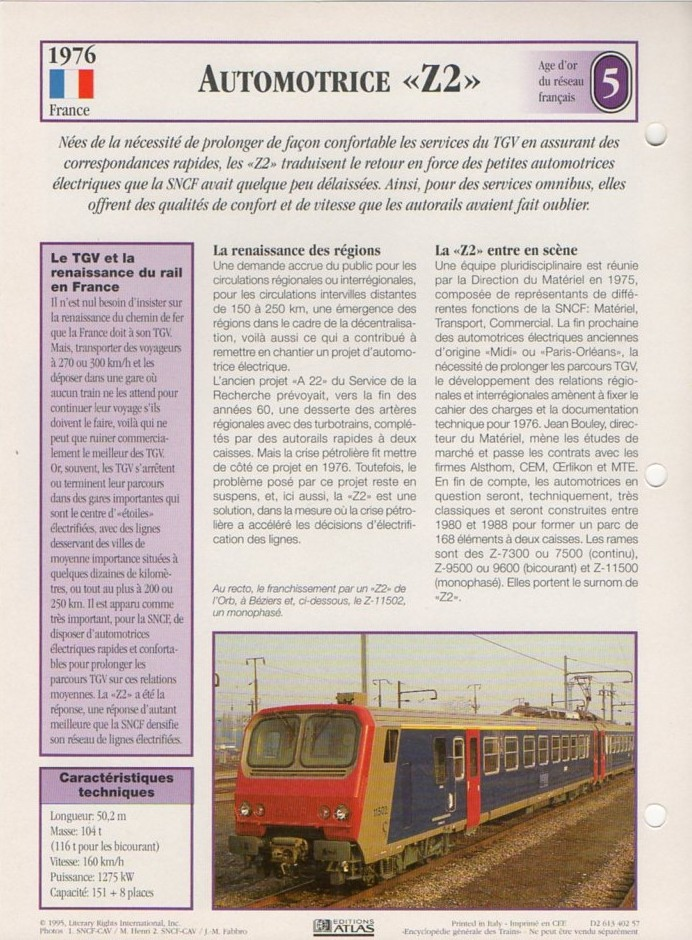[Fiches Atlas] Trains de légende, éditions Atlas (2e partie) T16510