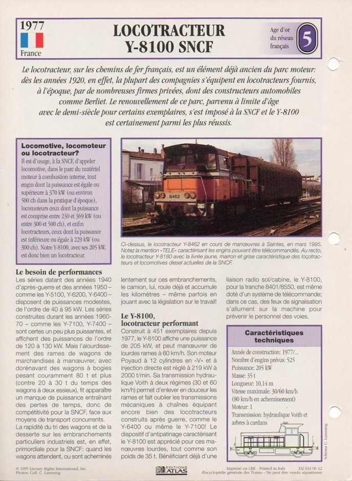 [Fiches Atlas] Trains de légende, éditions Atlas (2e partie) T16710