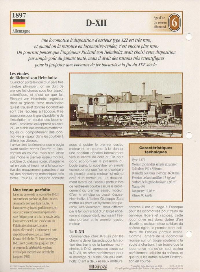 [Fiches Atlas] Trains de légende, éditions Atlas (2e partie) T17210