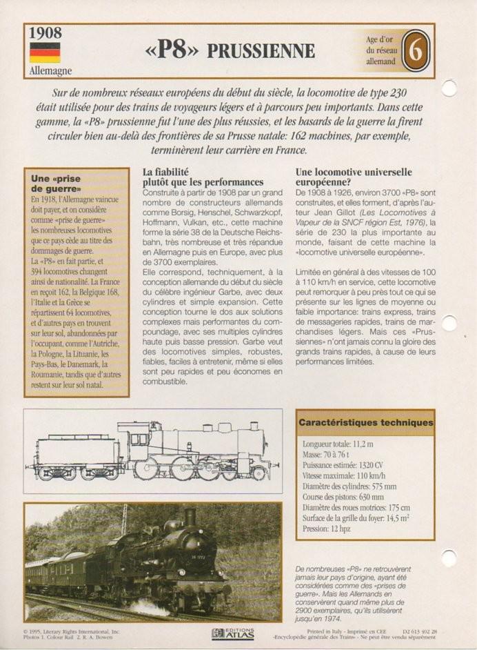 [Fiches Atlas] Trains de légende, éditions Atlas (2e partie) T17410