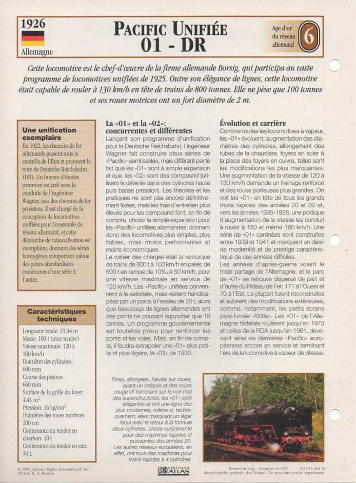 [Fiches Atlas] Trains de légende, éditions Atlas (2e partie) T17810