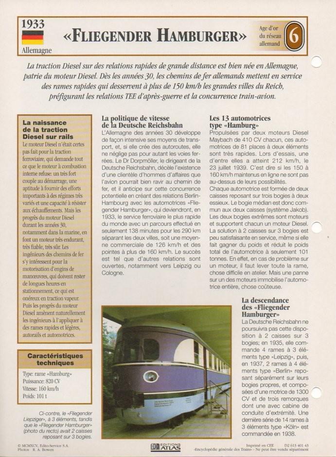 [Fiches Atlas] Trains de légende, éditions Atlas (2e partie) T18010