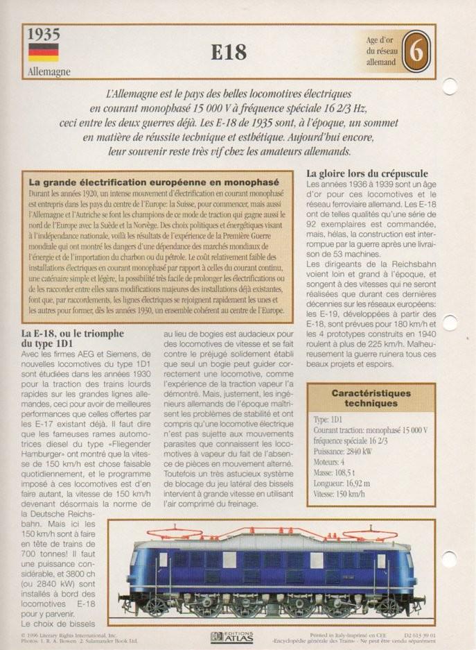[Fiches Atlas] Trains de légende, éditions Atlas (2e partie) T18210