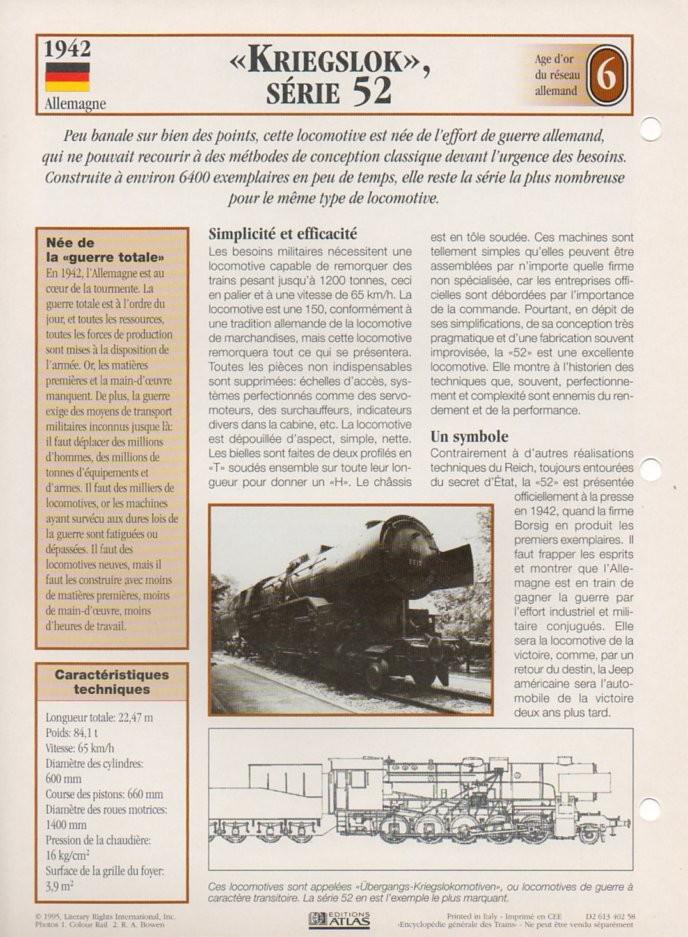 [Fiches Atlas] Trains de légende, éditions Atlas (2e partie) T18410