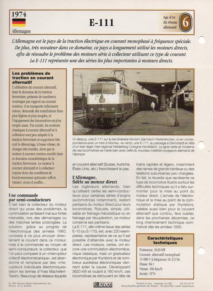[Fiches Atlas] Trains de légende, éditions Atlas (2e partie) T18610