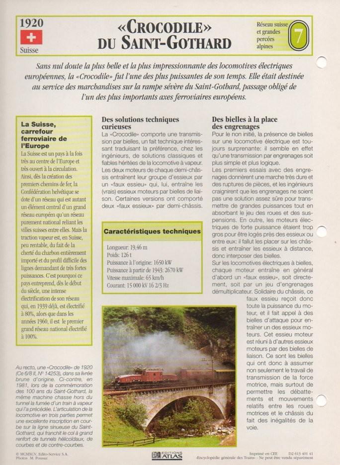 [Fiches Atlas] Trains de légende, éditions Atlas (2e partie) T19110