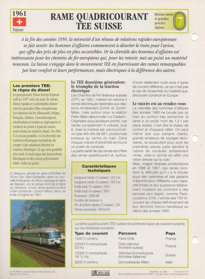[Fiches Atlas] Trains de légende, éditions Atlas (2e partie) T19310