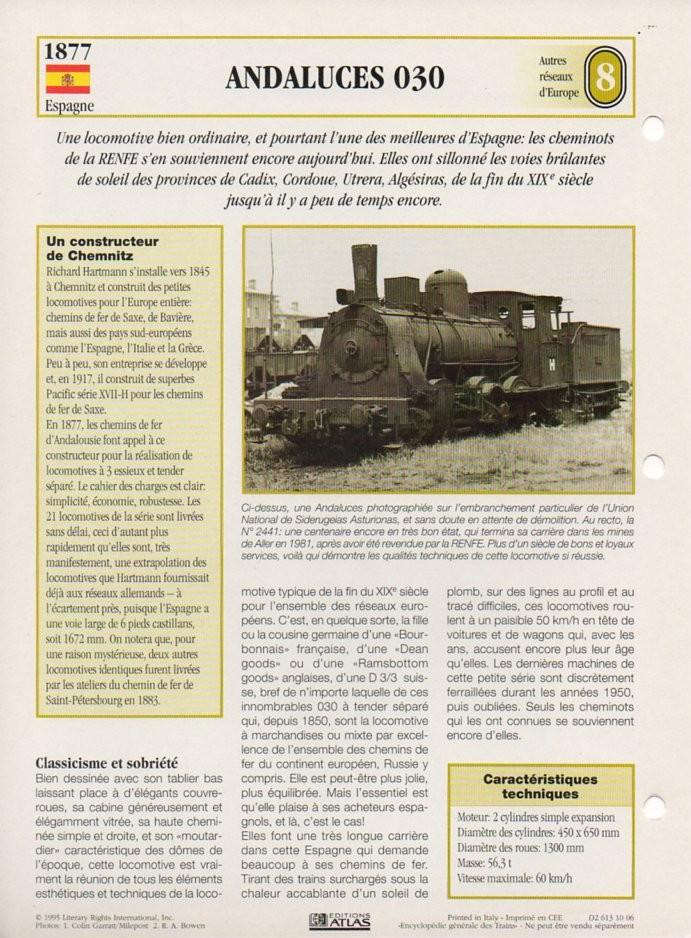 [Fiches Atlas] Trains de légende, éditions Atlas (2e partie) T19610