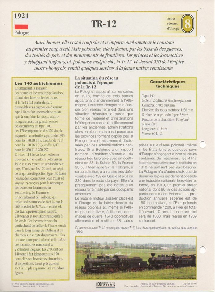 [Fiches Atlas] Trains de légende, éditions Atlas (2e partie) T19810