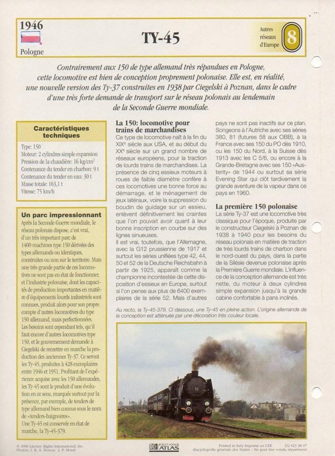 [Fiches Atlas] Trains de légende, éditions Atlas (2e partie) T20210
