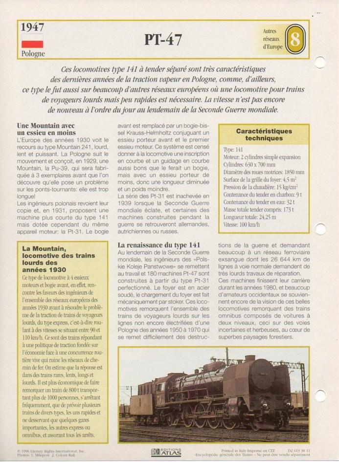 [Fiches Atlas] Trains de légende, éditions Atlas (2e partie) T20410