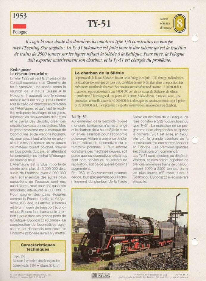[Fiches Atlas] Trains de légende, éditions Atlas (2e partie) T20610