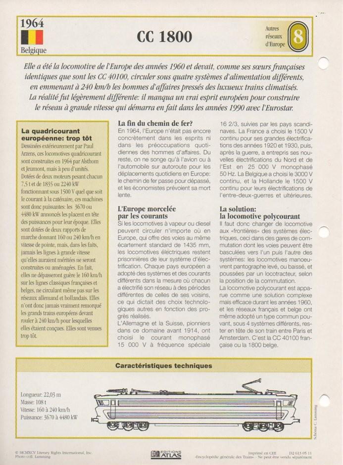 [Fiches Atlas] Trains de légende, éditions Atlas (2e partie) T20910