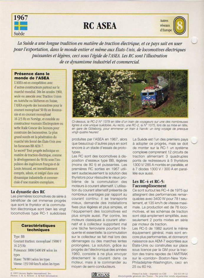 [Fiches Atlas] Trains de légende, éditions Atlas (2e partie) T21110
