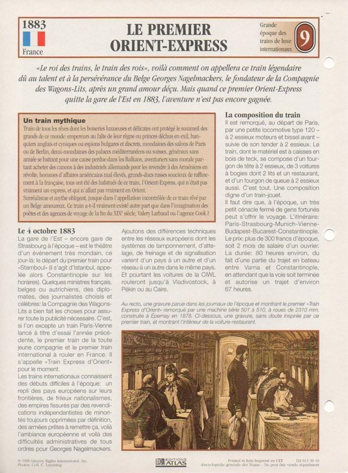 [Fiches Atlas] Trains de légende, éditions Atlas (2e partie) T21310