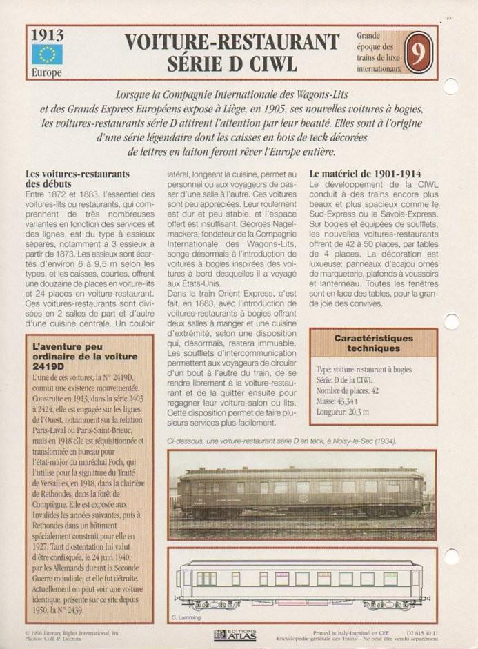 [Fiches Atlas] Trains de légende, éditions Atlas (2e partie) T21510