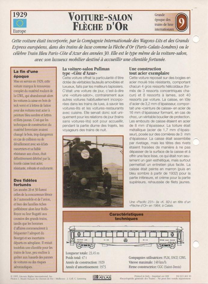 [Fiches Atlas] Trains de légende, éditions Atlas (2e partie) T21910