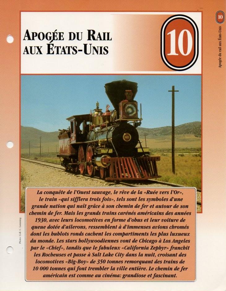 [Fiches Atlas] Trains de légende, éditions Atlas (2e partie) T22210