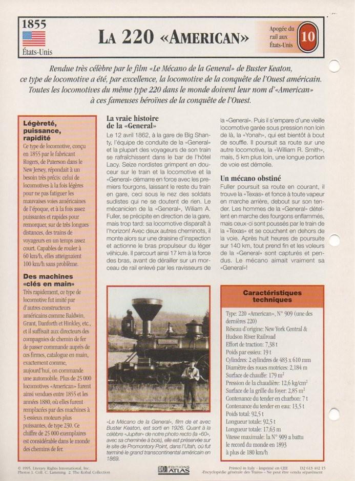 [Fiches Atlas] Trains de légende, éditions Atlas (2e partie) T22410