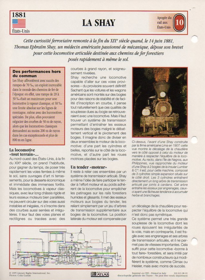 [Fiches Atlas] Trains de légende, éditions Atlas (2e partie) T23210