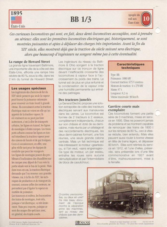 [Fiches Atlas] Trains de légende, éditions Atlas (2e partie) T23810